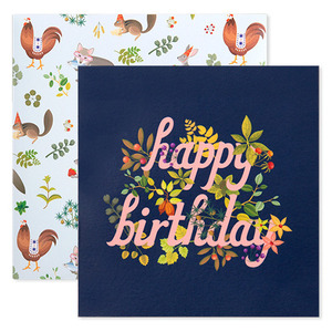 Botanic Birthday Card